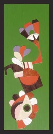 Purple & Orange Trumpeter $175